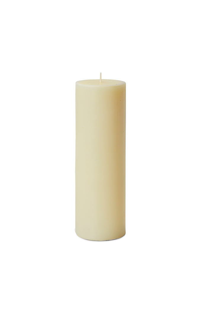 "Serene Spaces Living Set of 4 Ivory Pillar Candles for Wedding, Birthday, Holiday & Home Decoration, 3"" Diameter x 9"" Tall"