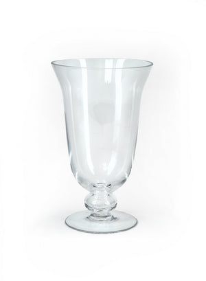 Serene Spaces Living Decorative Wazon Pedestal Glass Urn Vase, In 4 Size Options