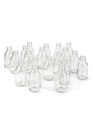 "Serene Spaces Living Glass Milk Bottle Bud Vases – Vintage Milk-Bottle Style Vases - For Home Décor, Event Centerpieces and More, 4.25"" H x 2"" D, Set of 6 or 48"