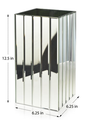 Serene Spaces Living Tall and Low Gatsby Mirror Strip Vases