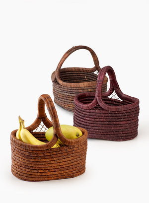 Oval Raffia Baskets