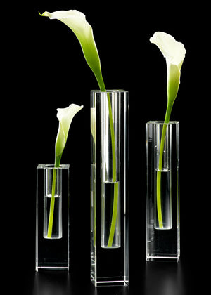 Medium Modern Crystal Bud Vase