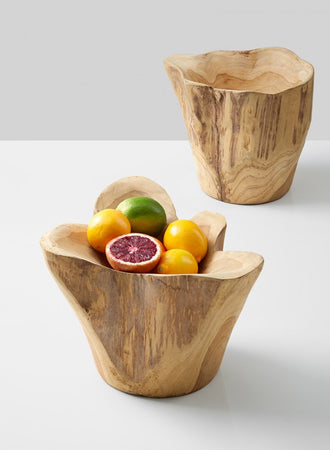 Teak Fruit Bowl