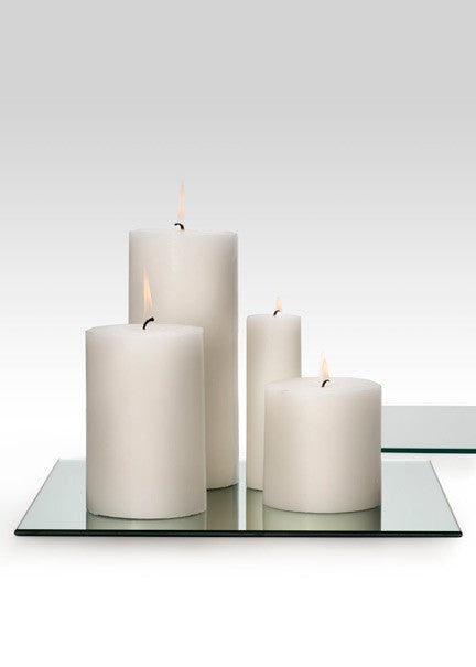 Small White Pillar Candle