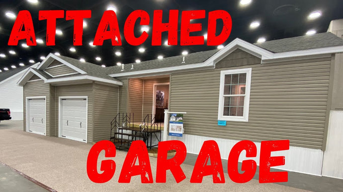 New Mobile Home Features Attached Garage!
