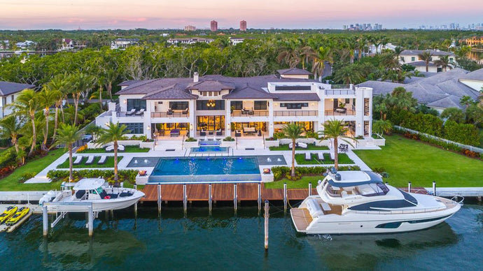 Miami Waterfront Mansion Puts us in the Lap of Beach Living Luxury