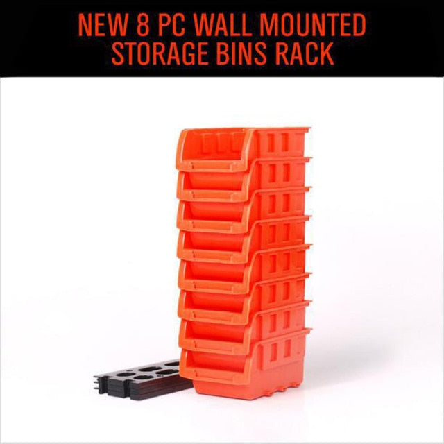 Wall Mountable Storage Bins - Durable ABS Construction