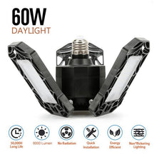 Load image into Gallery viewer, Three-Leaf Foldable LED Garage Light, 360-Degree Deformable Ceiling Light (60W 6000 Lumens)