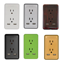 Load image into Gallery viewer, Outlet with Dual USB Charger Electrical Socket 15A Tamper Resistant Duplex Receptacle