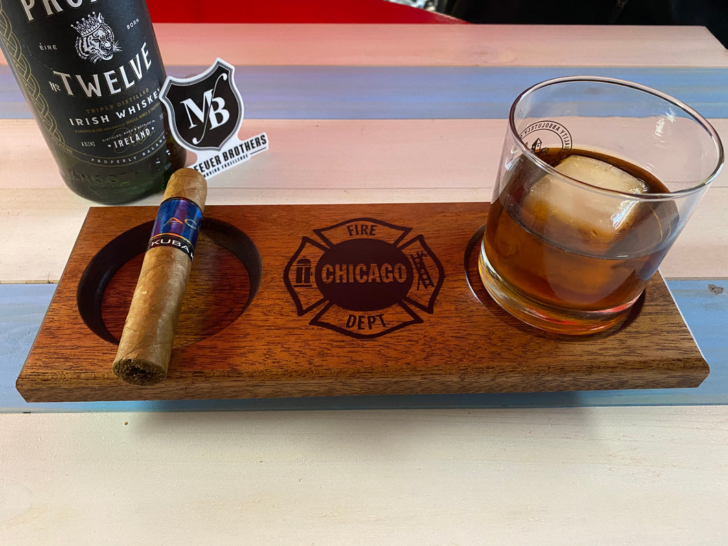 Chicago Fire Department Ash Tray Coaster