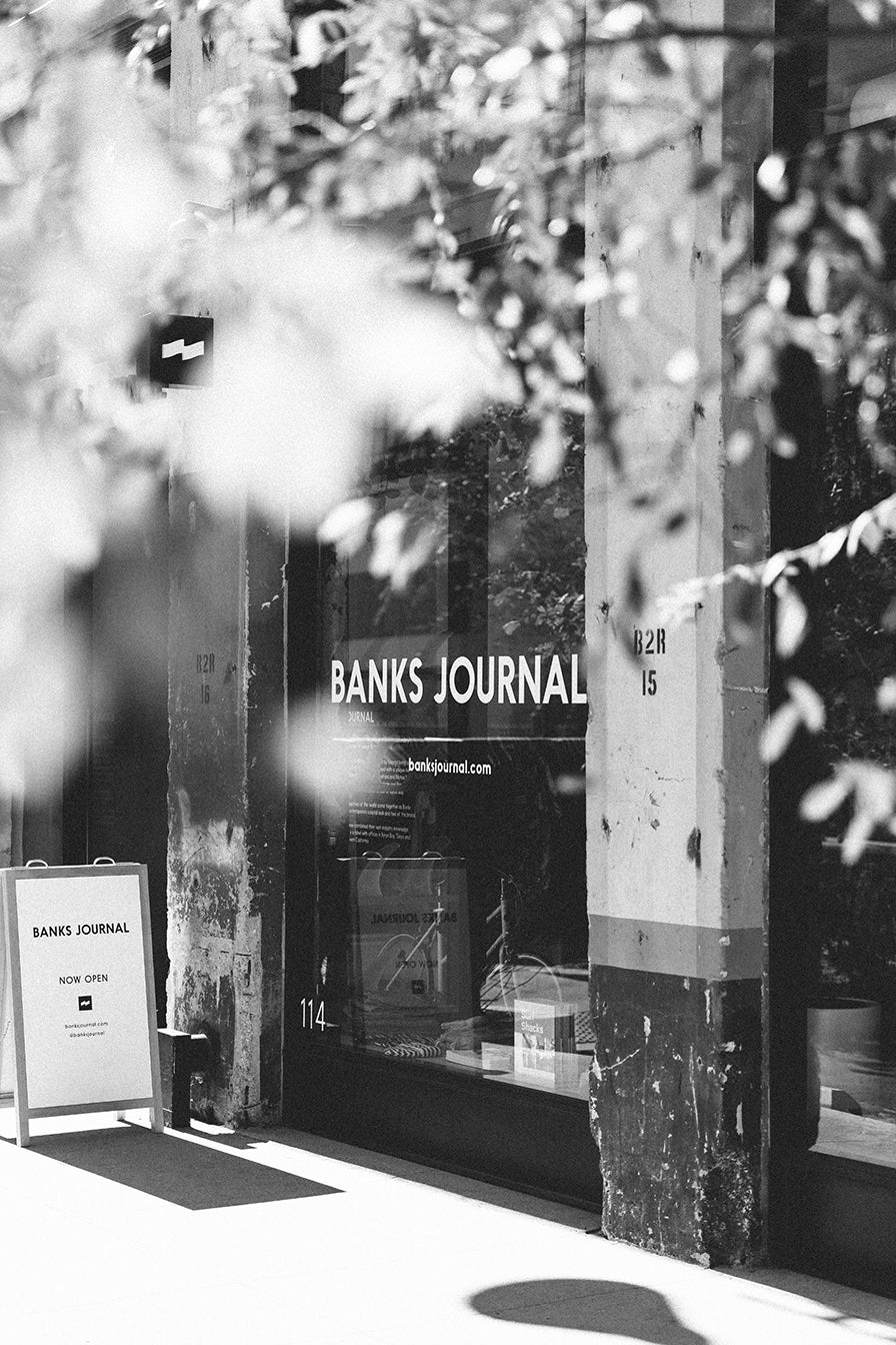 f4dfea443847 The Banks Journal DTLA storefront is our first brick and mortar, blending  clean and minimal aesthetics with natural materials near LA's Arts District.