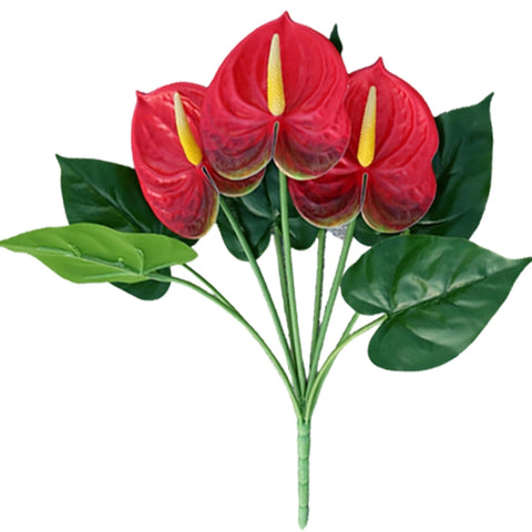 bouquet anthurium rouge