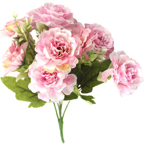bouquet artificiel pivoine