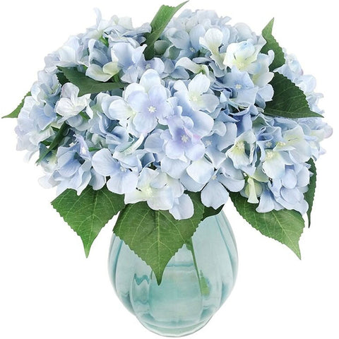 hortensia artificiel bleu
