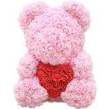 ours en peluche rose artificielle