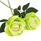 rose artificielle verte
