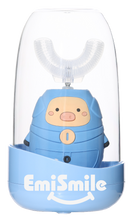 Load image into Gallery viewer, EmiSmile Blue Piggy is the most adorable of all! It is the best electric toothbrush for toddlers and kids