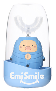 EmiSmile Blue Piggy is the most adorable of all! It is the best electric toothbrush for toddlers and kids