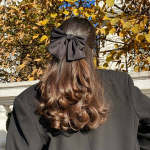 Anisa Sojka Black Oversized Bow Hair Clip