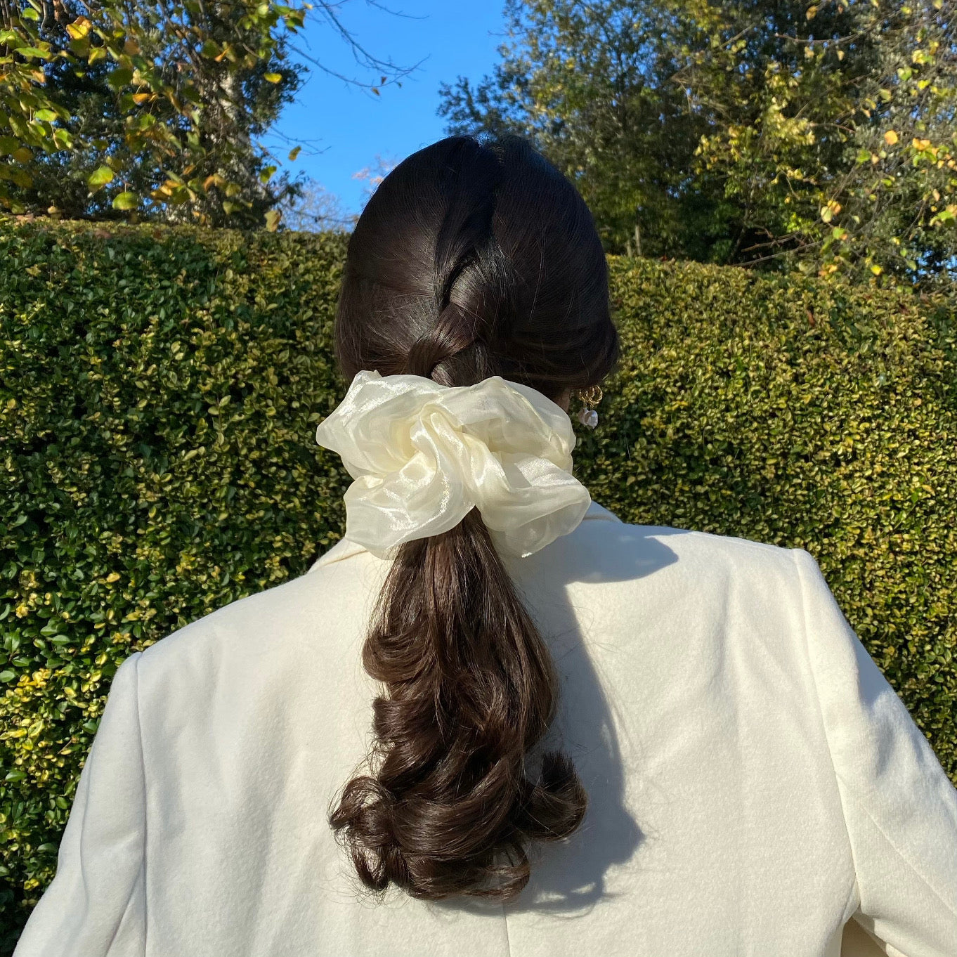 Anisa Sojka White Oversized Scrunchie