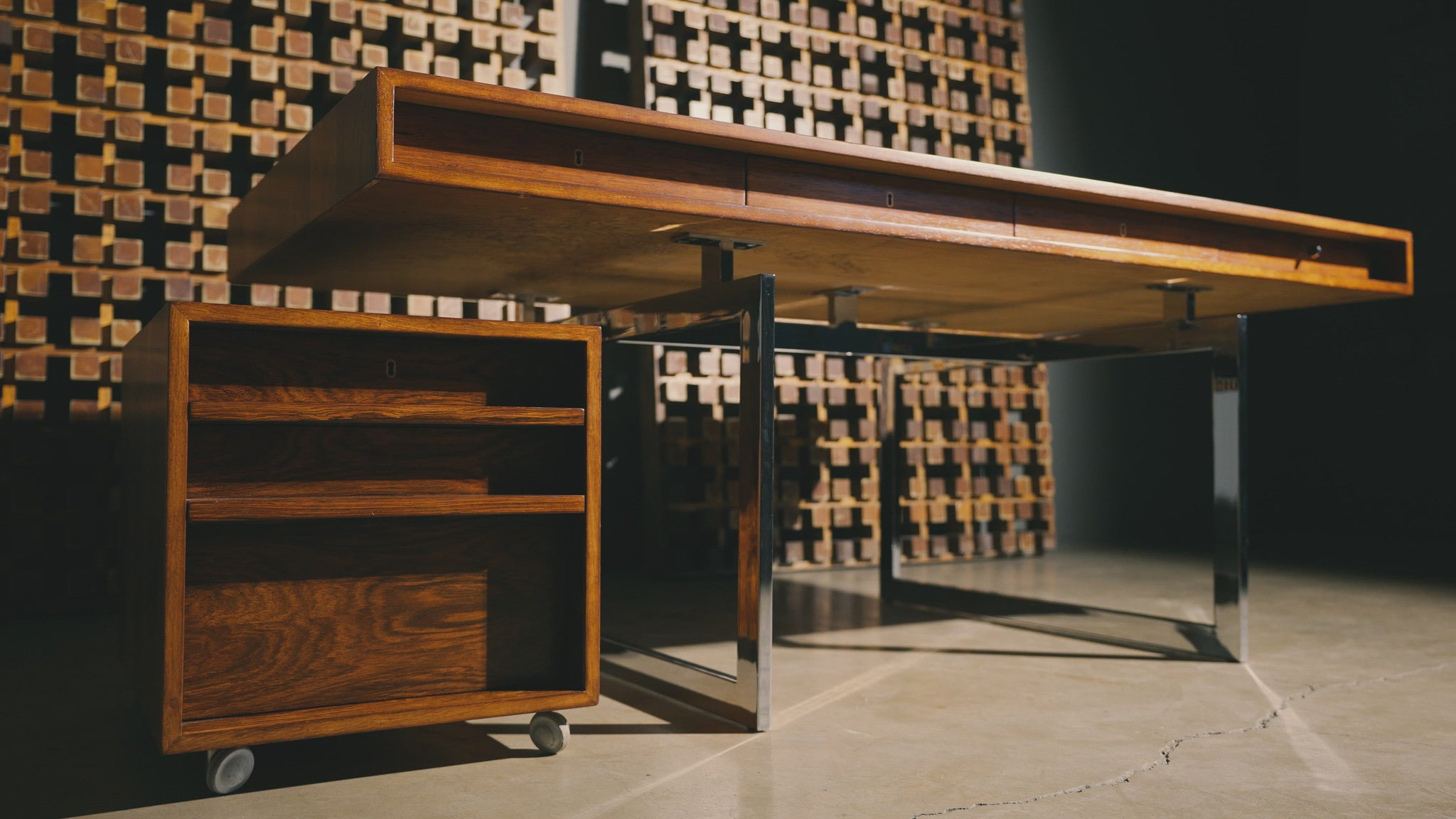 Bodil Kjaer Rosewood Desk for E. Pederson and Sons A/S, circa 1959