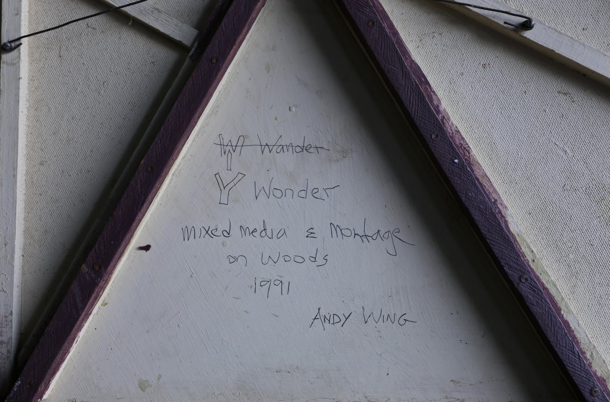 "Andy Wing "" Y Wonder "" 1991"
