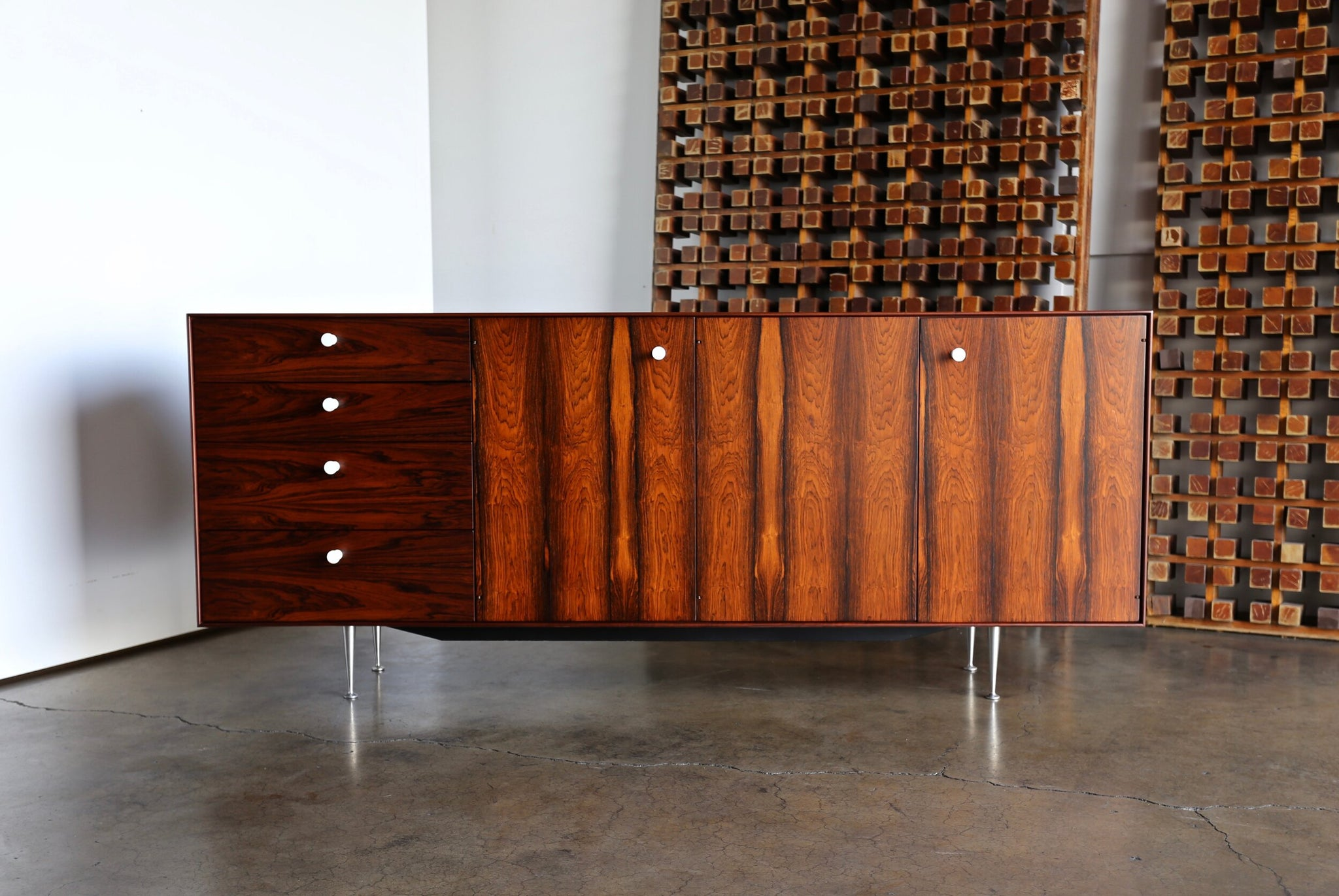 "= SOLD = George Nelson Rosewood ""Thin Edge"" Credenza for Herman Miller, circa 1960"