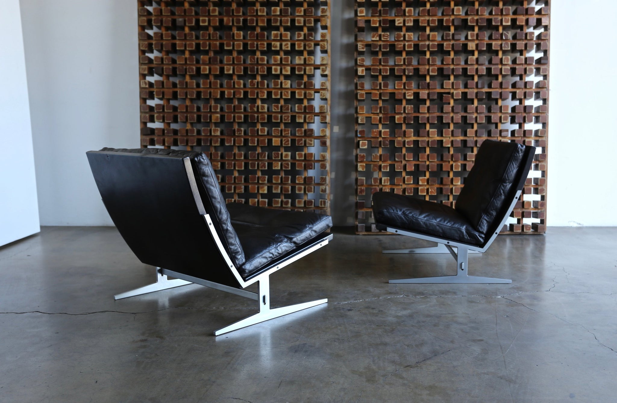= SOLD = Jørgen Kastholm & Preben Fabricius Model Bo-561 Lounge Chairs circa 1965