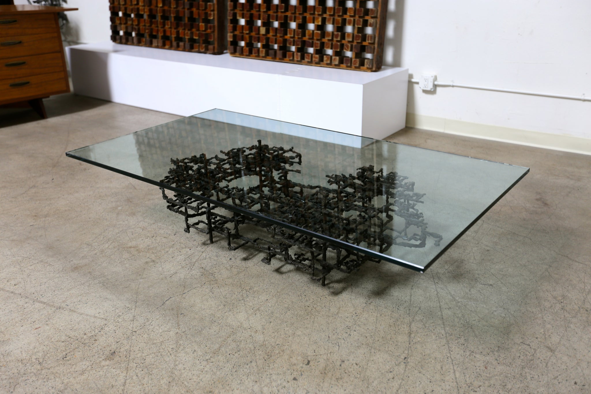 Sculptural Coffee Table by Daniel Gluck circa 1970