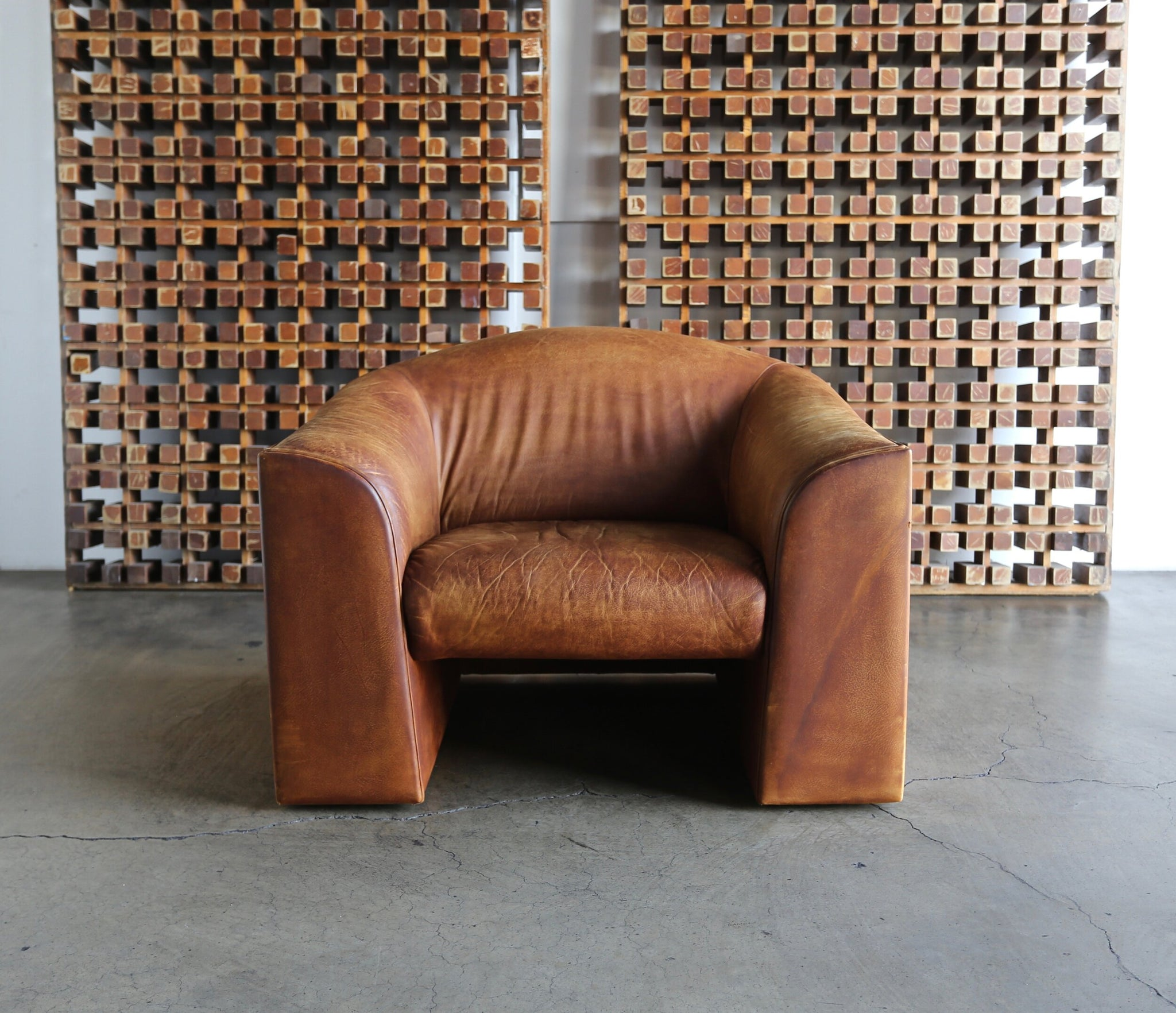 = SOLD = De Sede Leather Lounge Chair Switzerland circa 1970