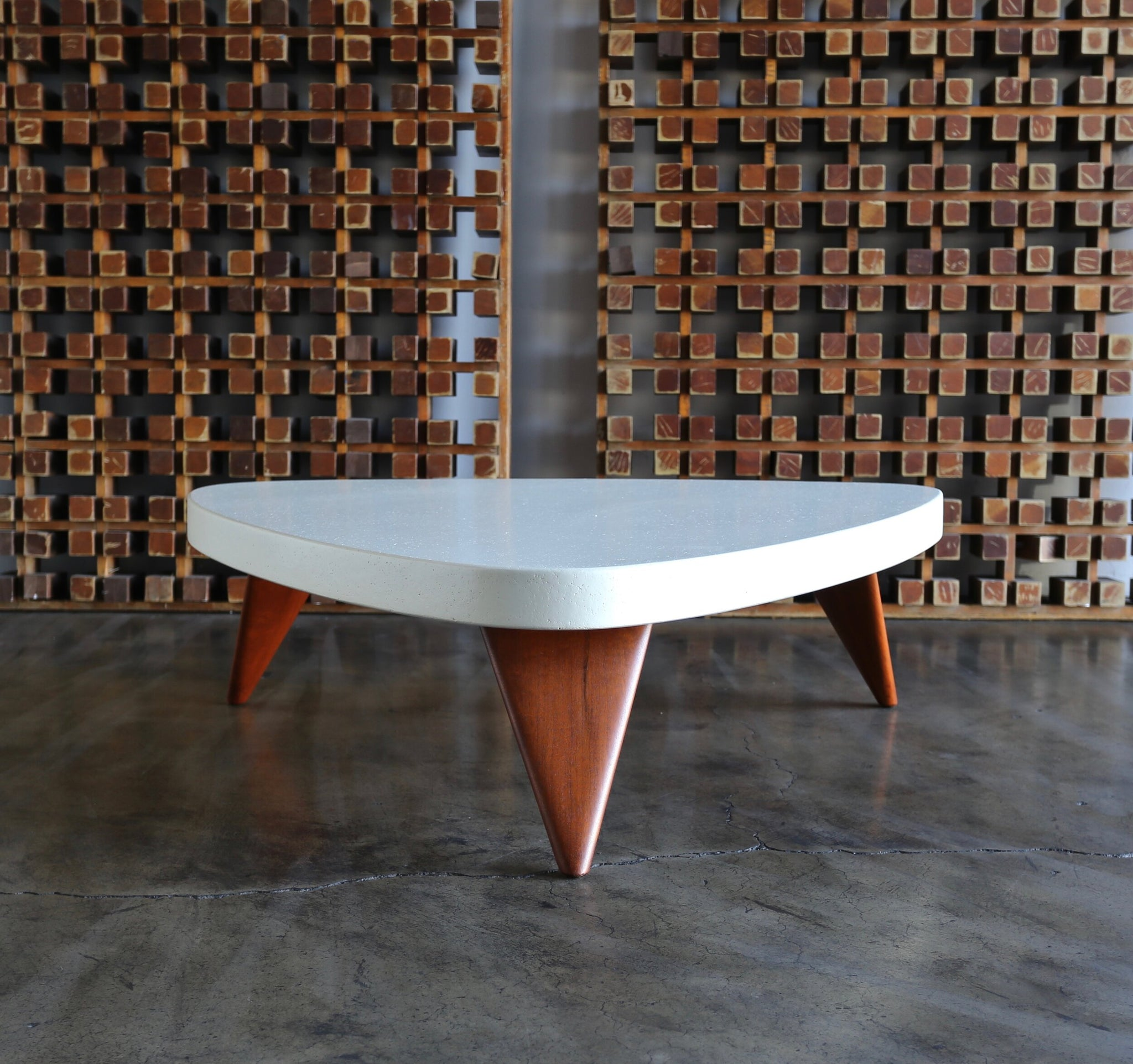 = SOLD = Paul Frankl Cork Top Coffee Table for Johnson Furniture circa 1955