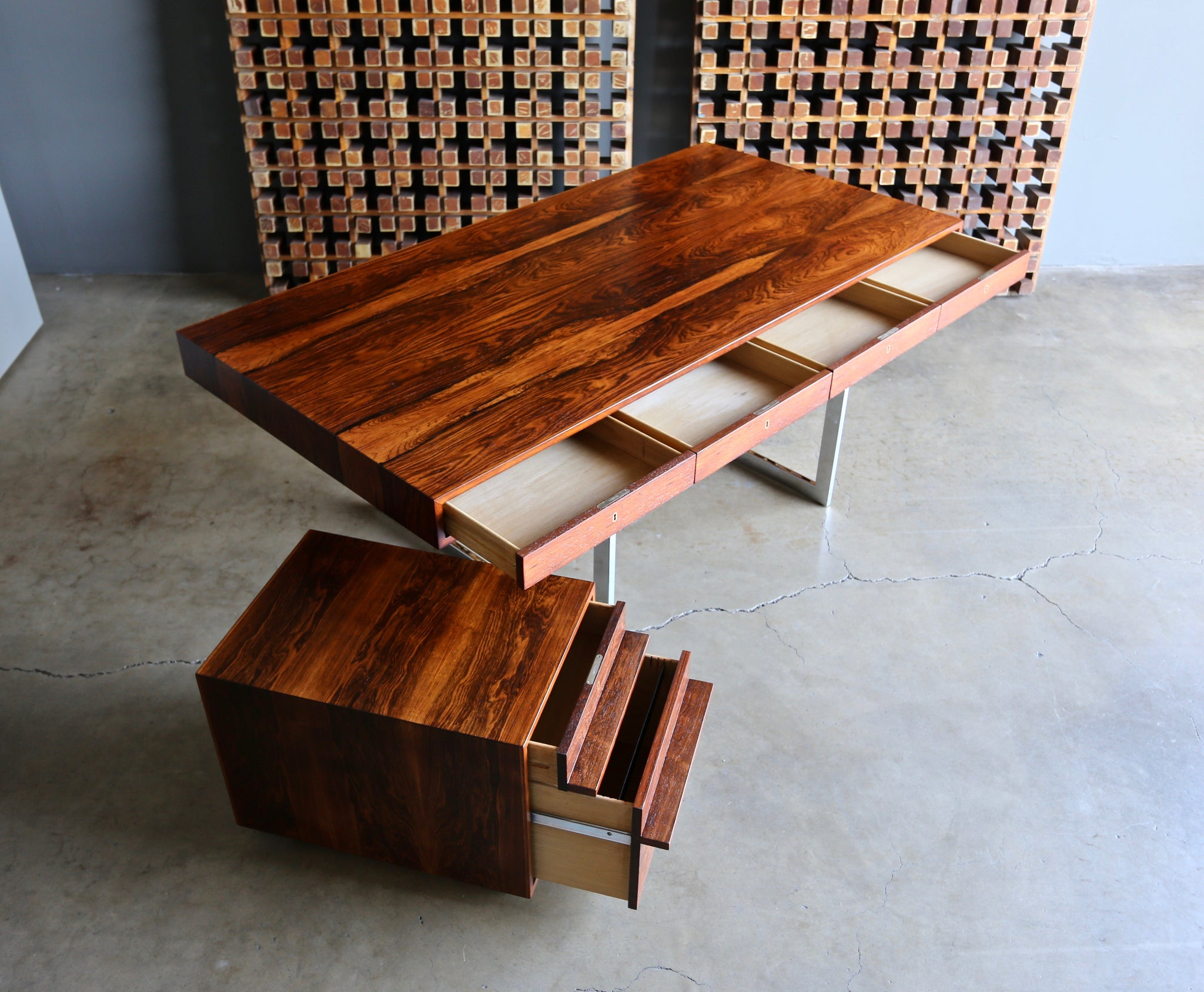 Bodil Kjaer Rosewood Desk for E. Pederson and Sons A/S circa 1959