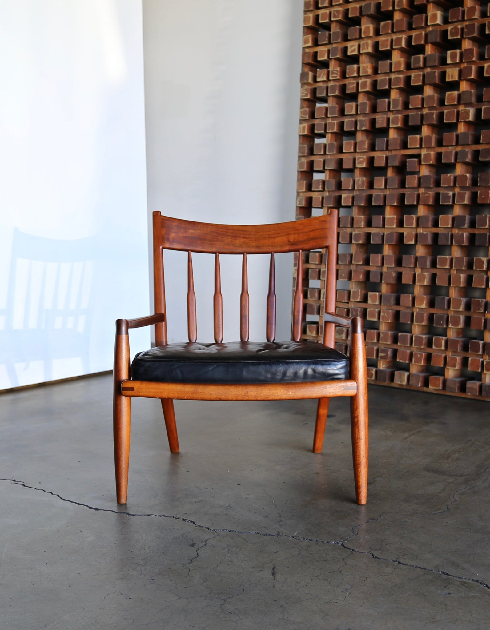John Nyquist Handcrafted Walnut Lounge Chairs circa 1970