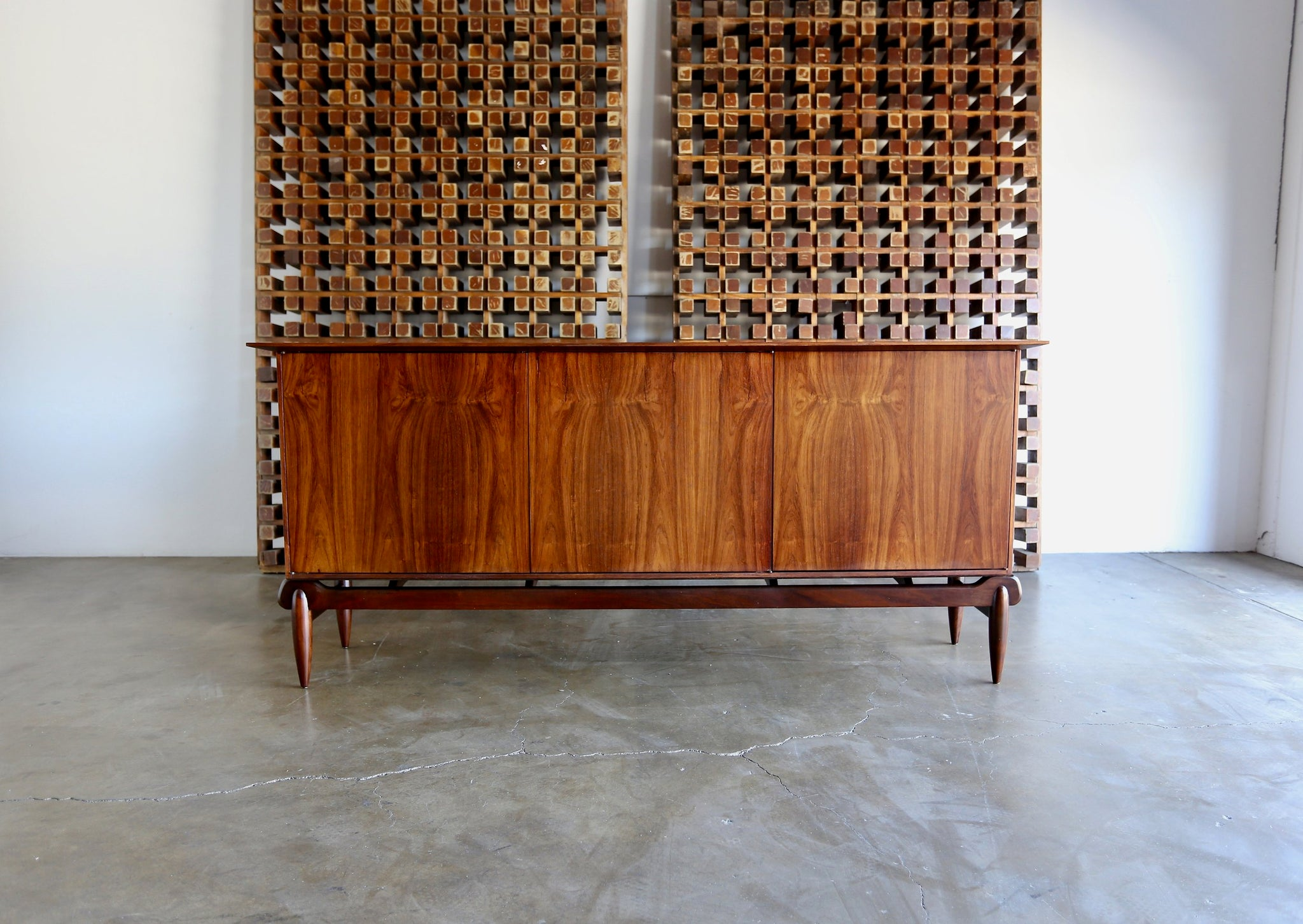 = SOLD = Rare Rosewood Credenza by Greta Grossman for Glenn of California
