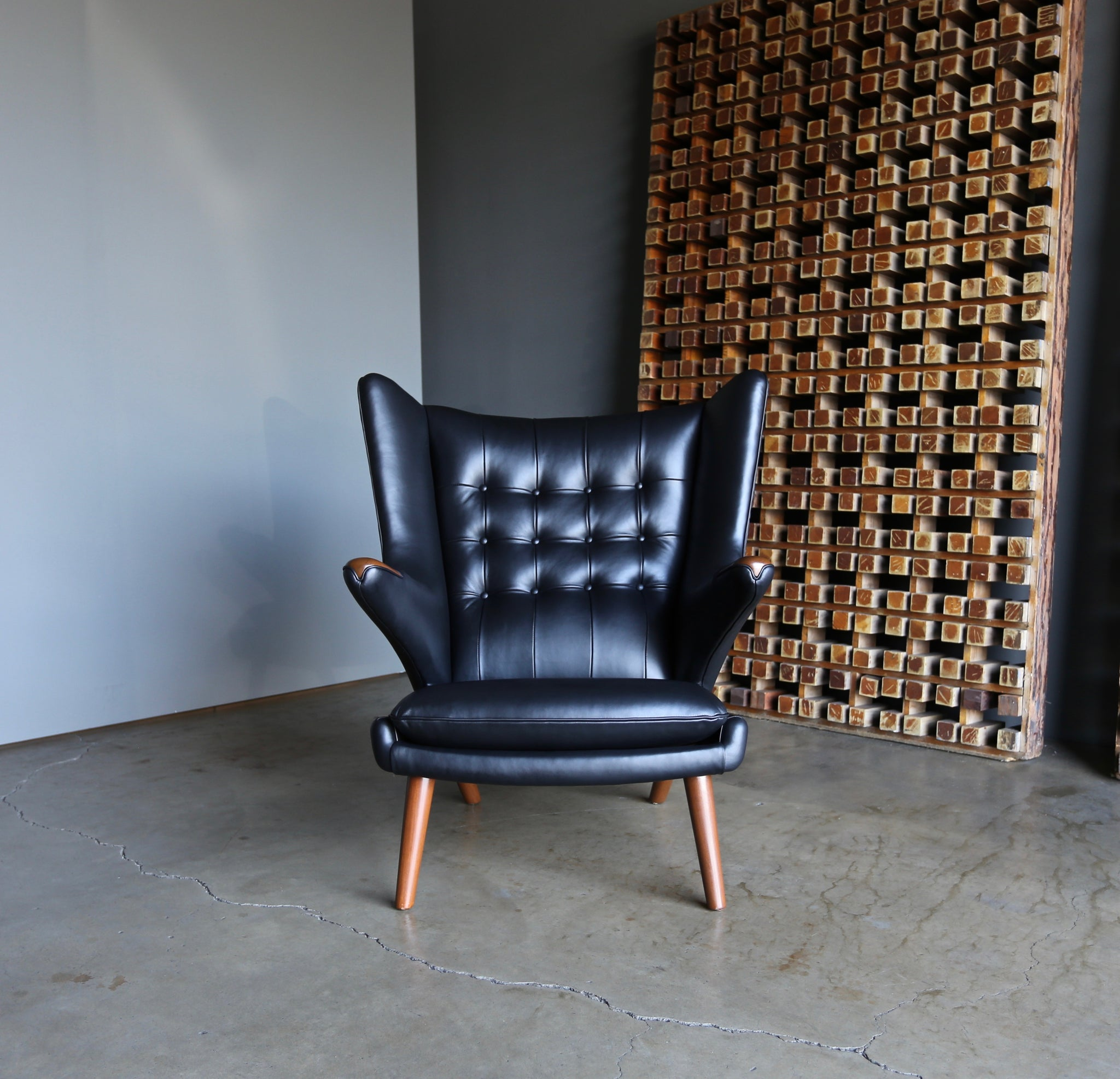 = SOLD = Hans Wegner Papa Bear Chair & Ottoman
