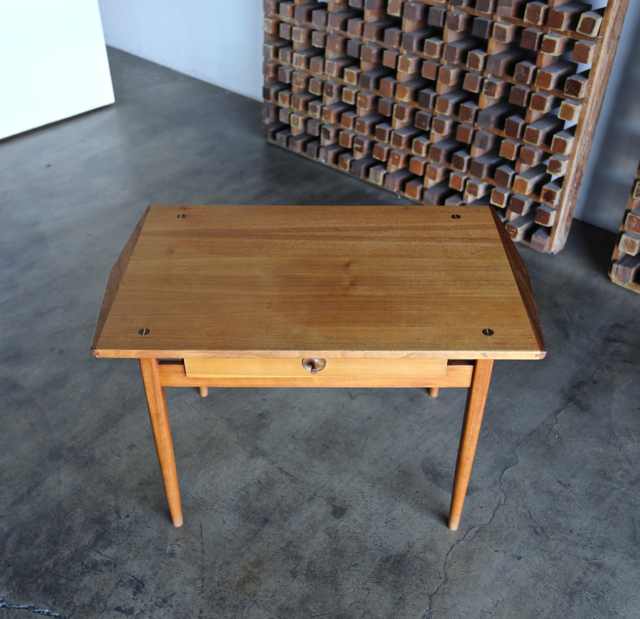 John Kapel Hand Crafted Side / Entry Table circa 1956