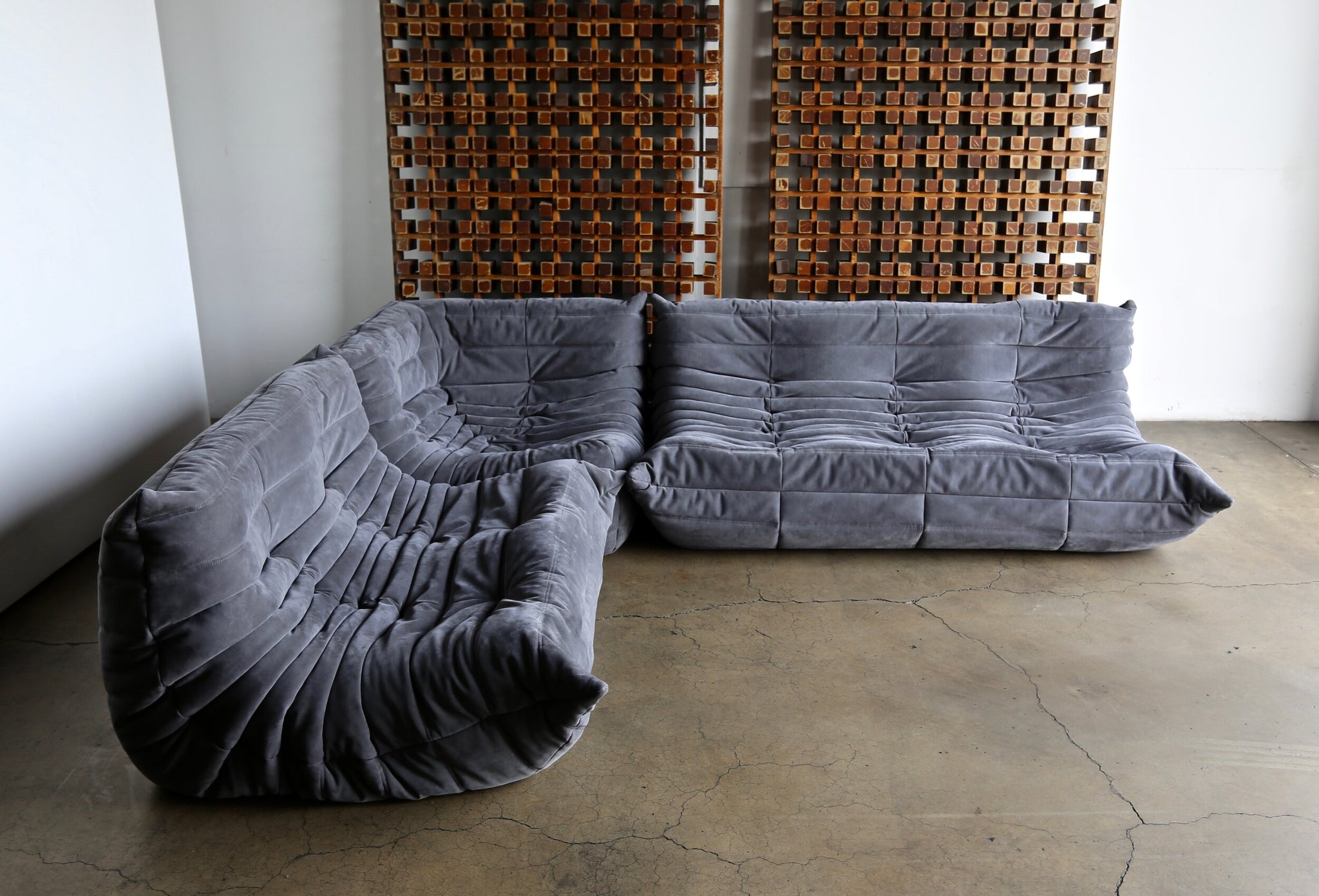 = SOLD = Michel Ducaroy Togo Sofa Set for Ligne Roset