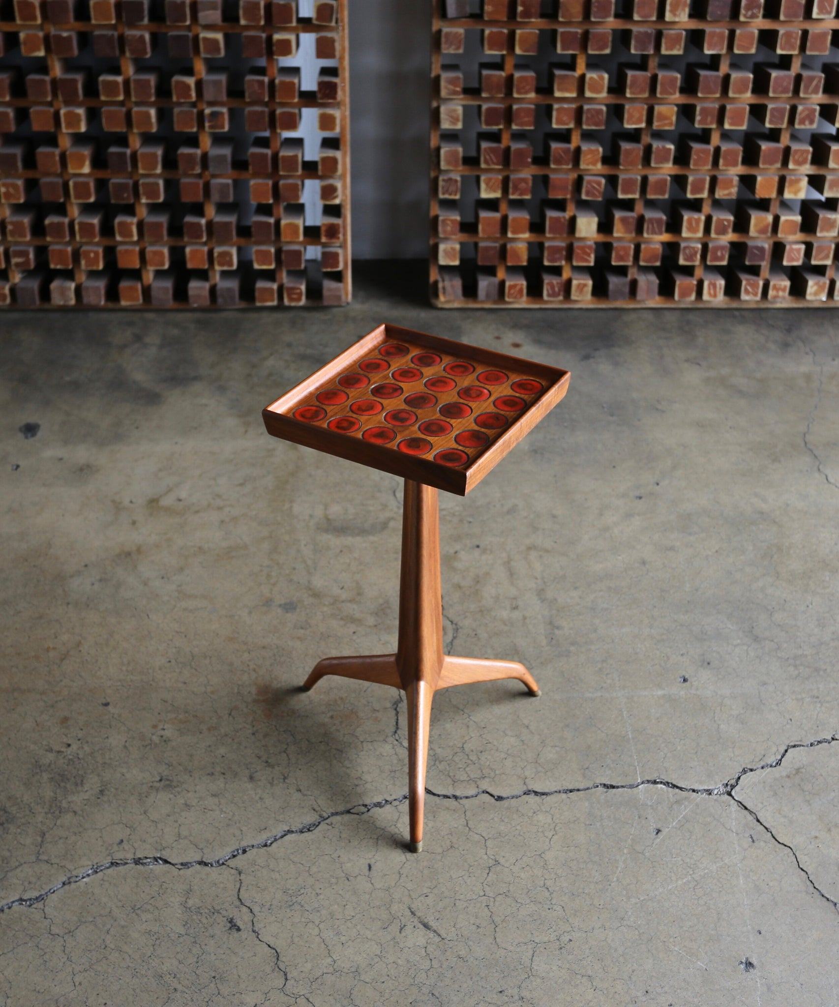 = SOLD = Edward Wormley Janus Occasional Table with Natzler Tiles for Dunbar, circa 1960