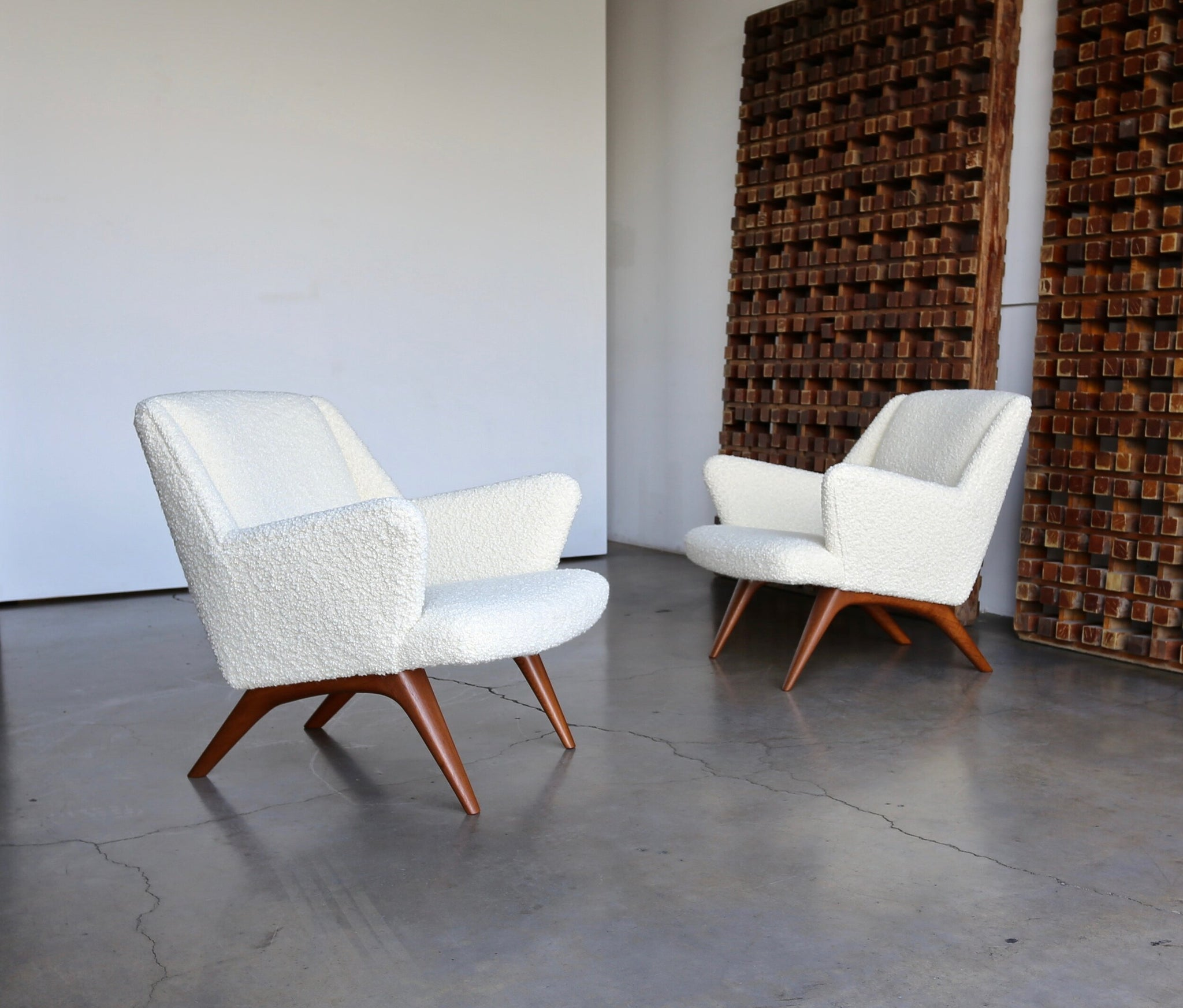 = SOLD = Illum Wikkelsø Lounge Chairs for A. Mikael Laursen & Søn circa 1960