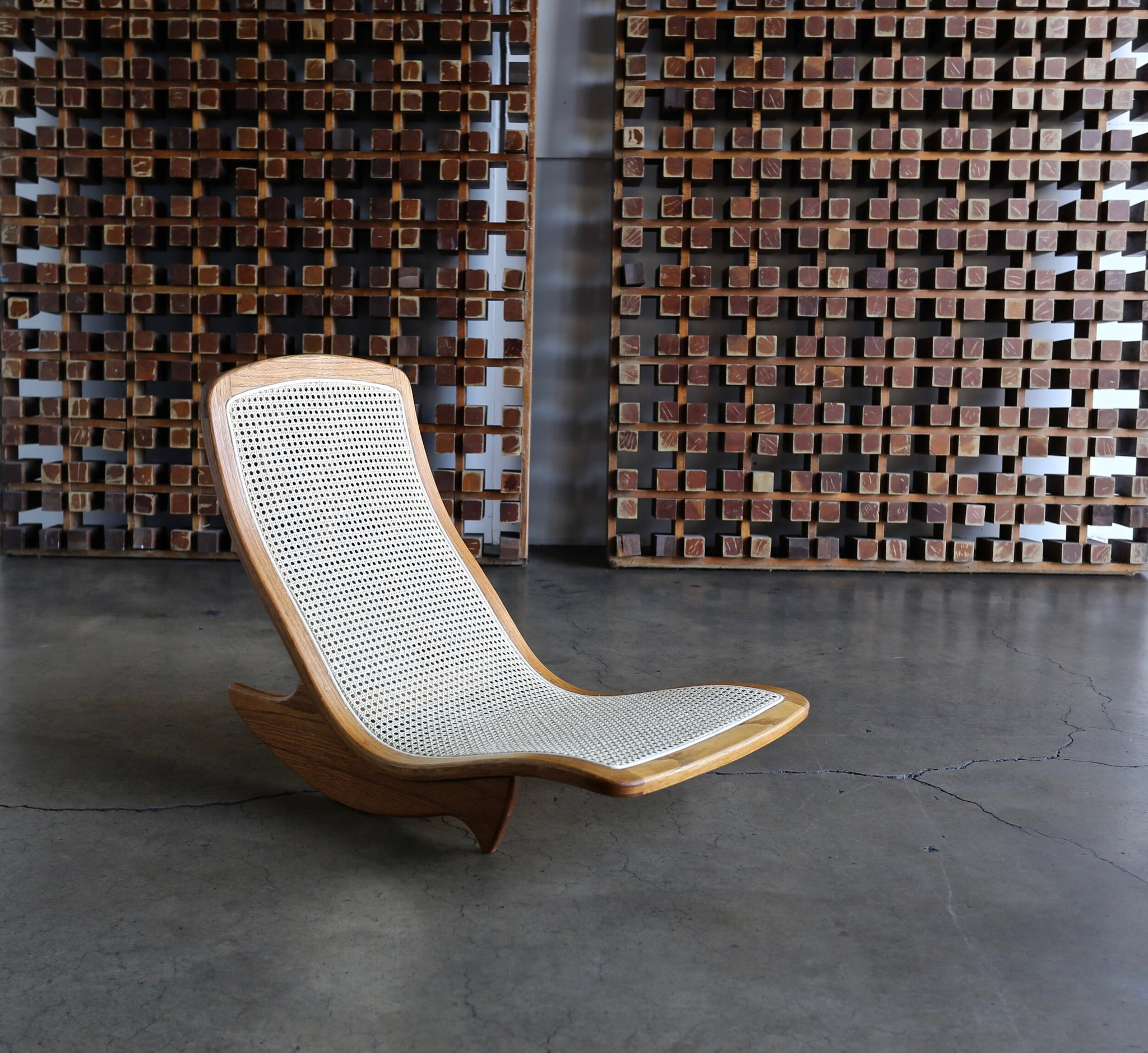 = SOLD = Steven Rieman Handcrafted Low Rocker, 1976