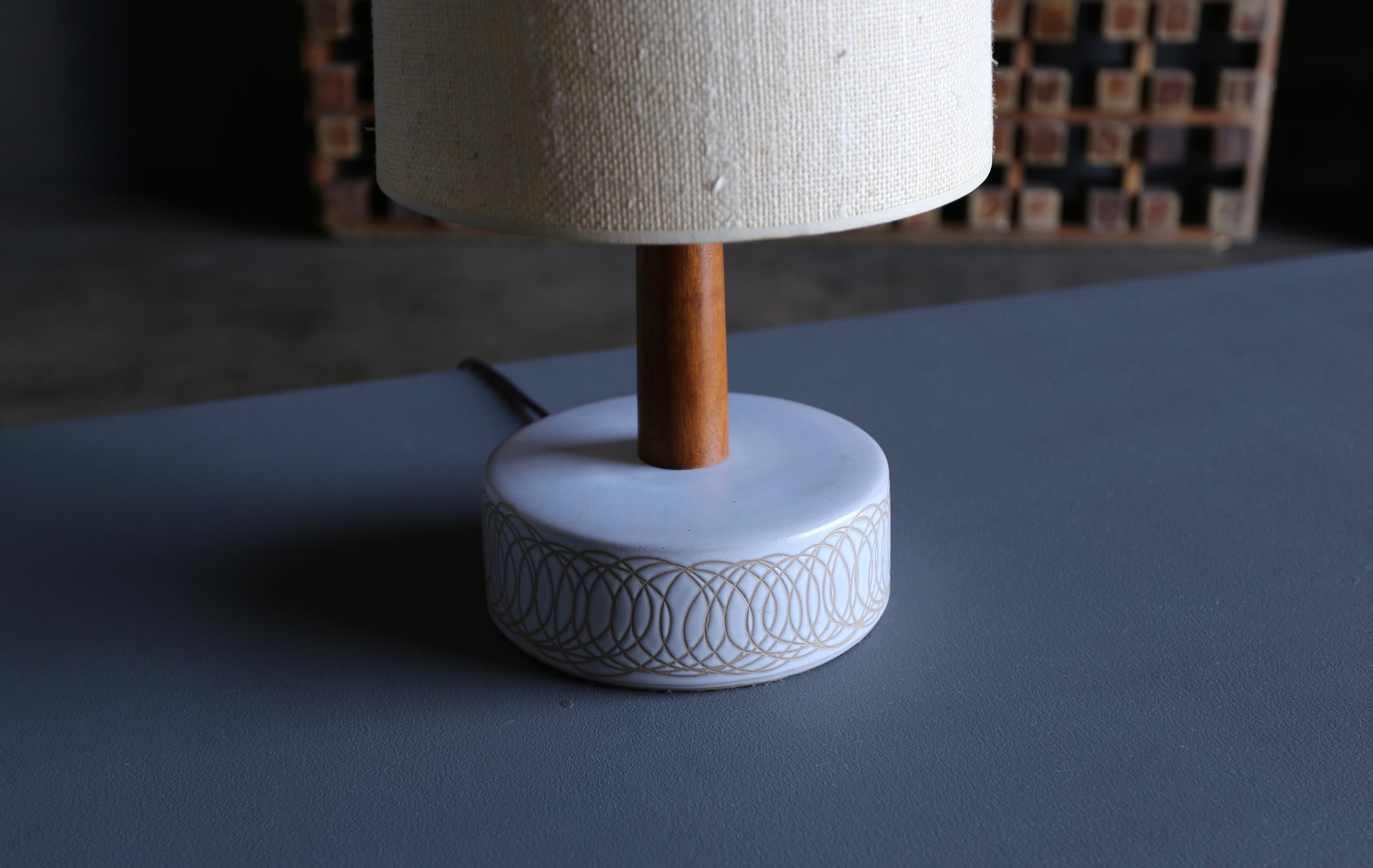 = SOLD = Jane and Gordon Martz Ceramic Table Lamp For Marshall Studios circa 1965