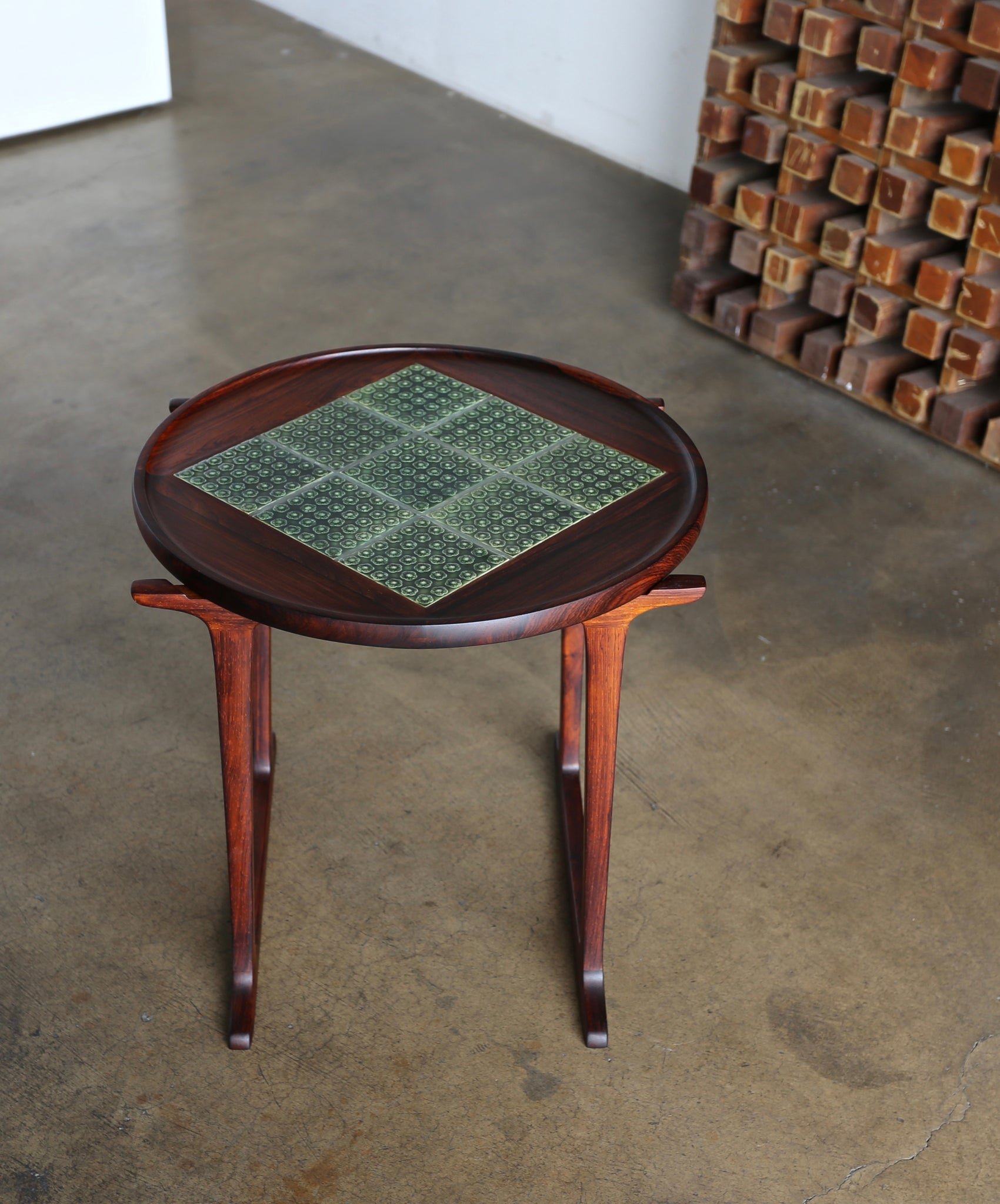 Jens Quistgaard Rosewood & Tile Side Table for Richard Nissen circa 1966