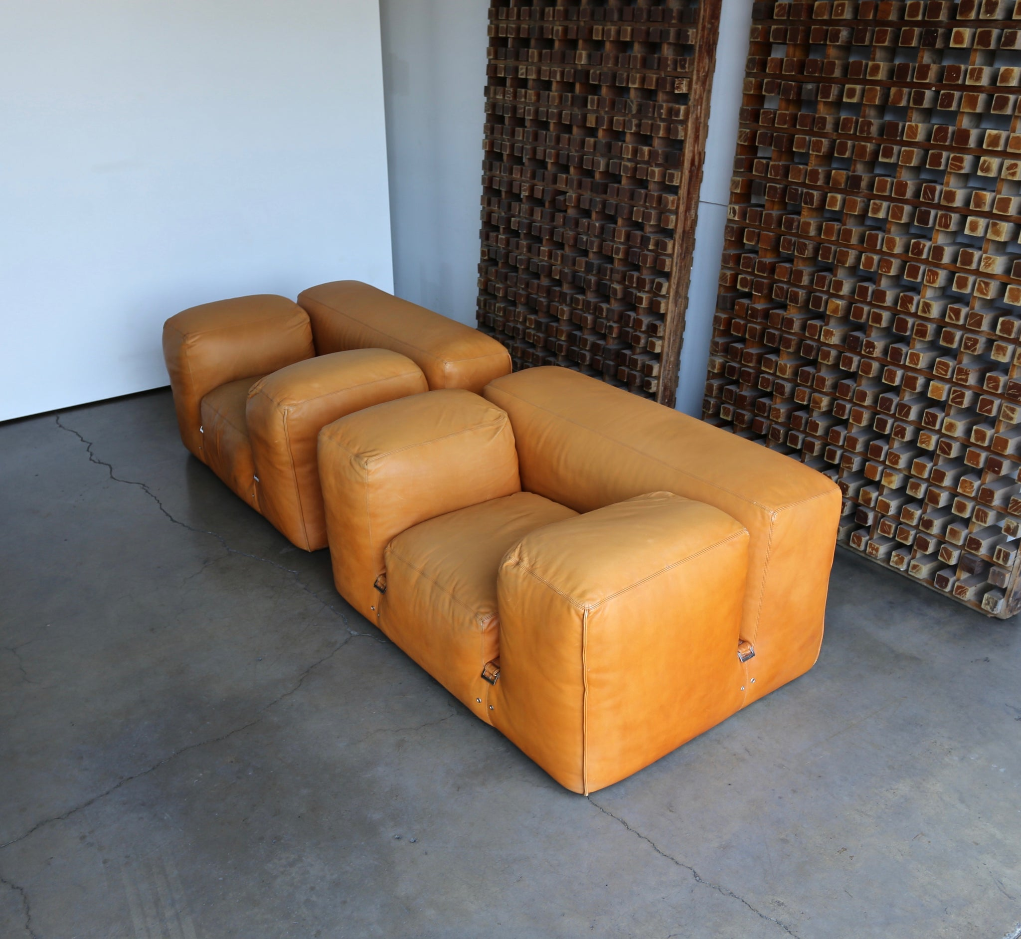"Mario Bellini ""LE MURA"" Lounge Chairs for Cassina, circa 1972"