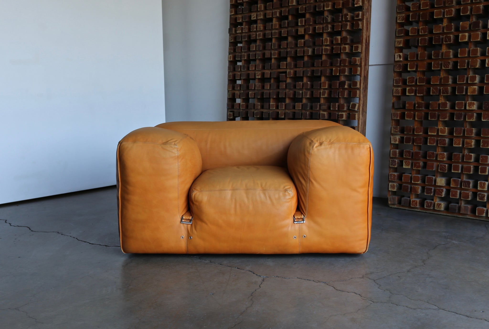 "= SOLD  = Mario Bellini ""LE MURA"" Lounge Chairs for Cassina, circa 1972"