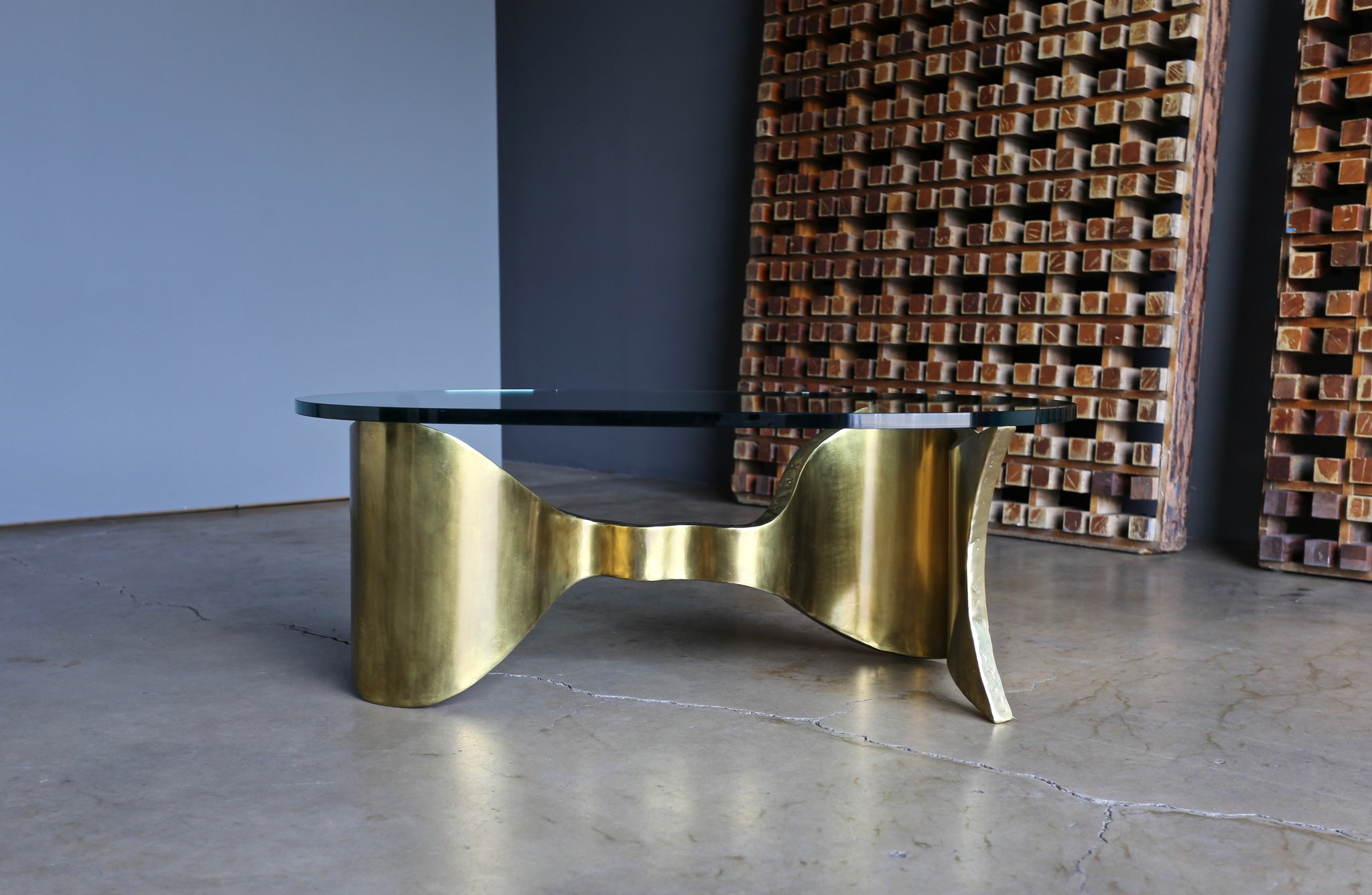 "Silas Seandel "" Ribbon "" Coffee Table circa 1980"