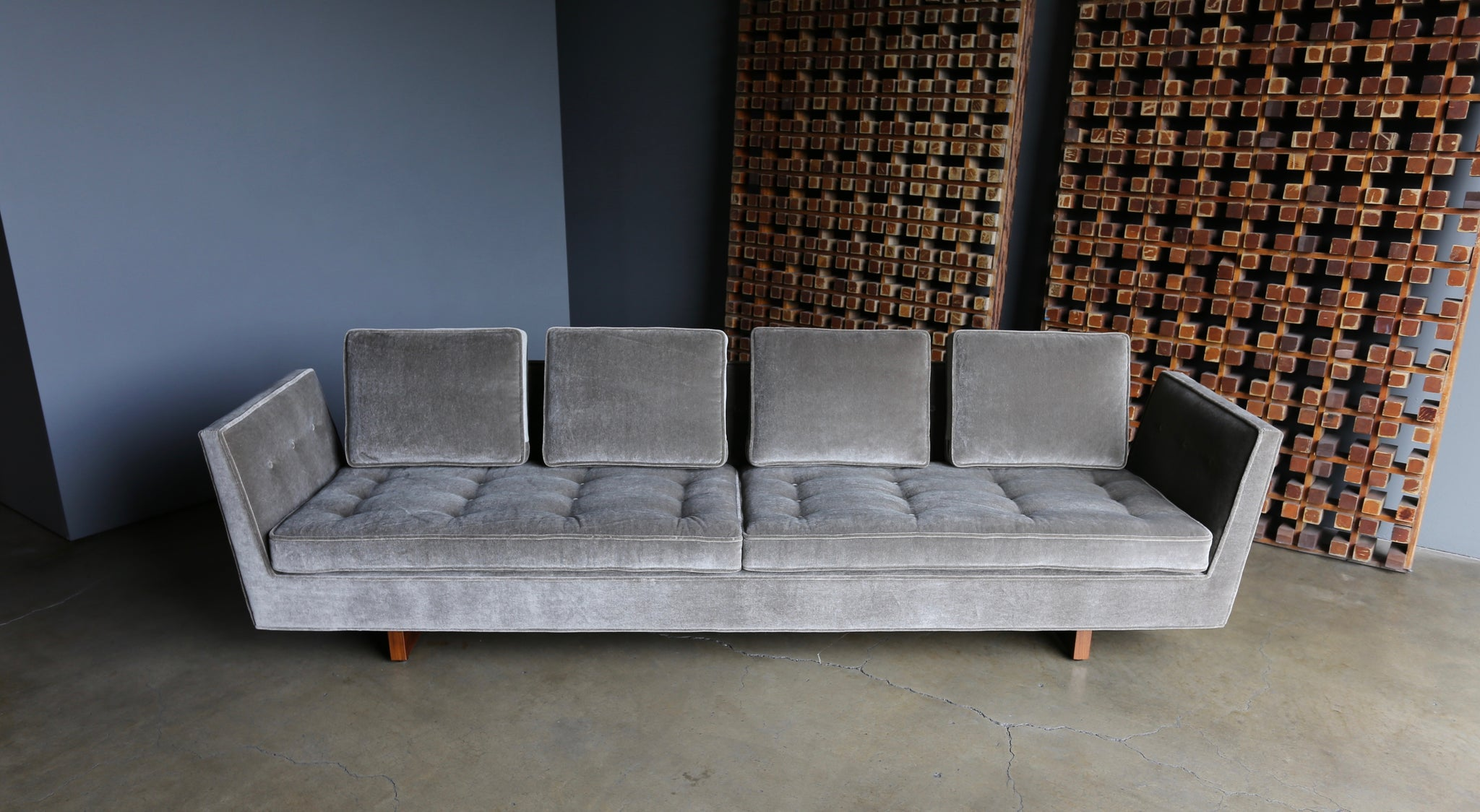 Edward Wormley Open Arm Sofa for Dunbar circa 1955