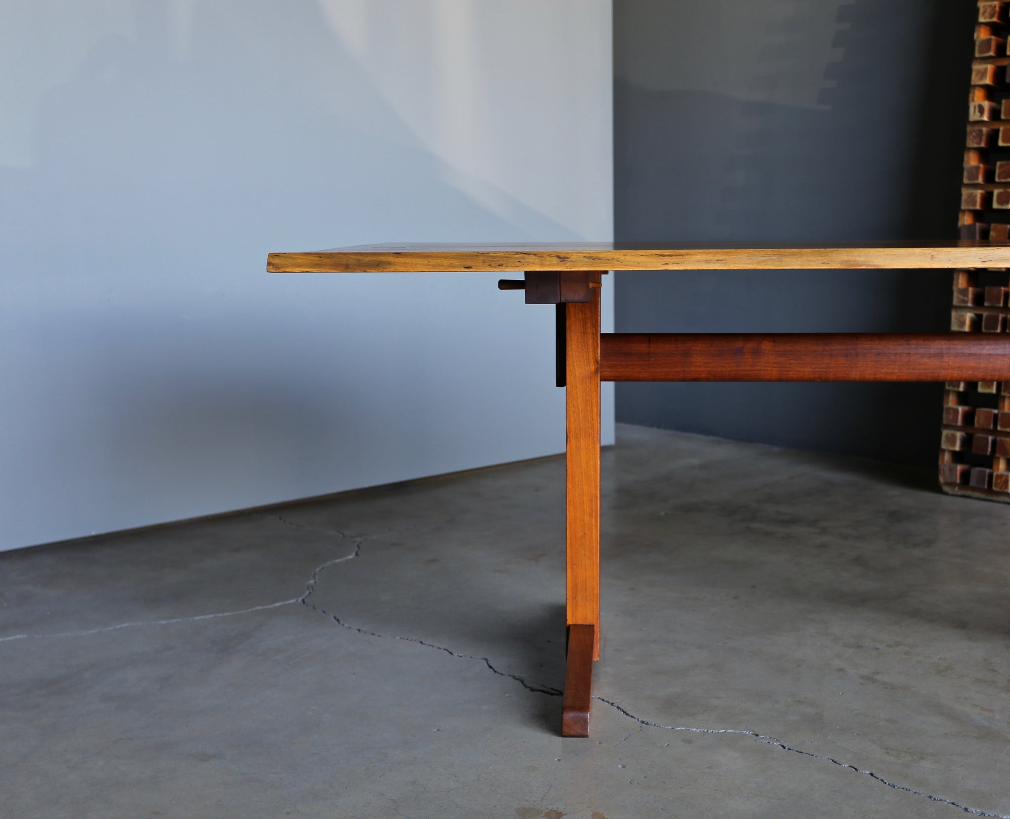 = SOLD = George Nakashima Trestle Dining Table, 1960