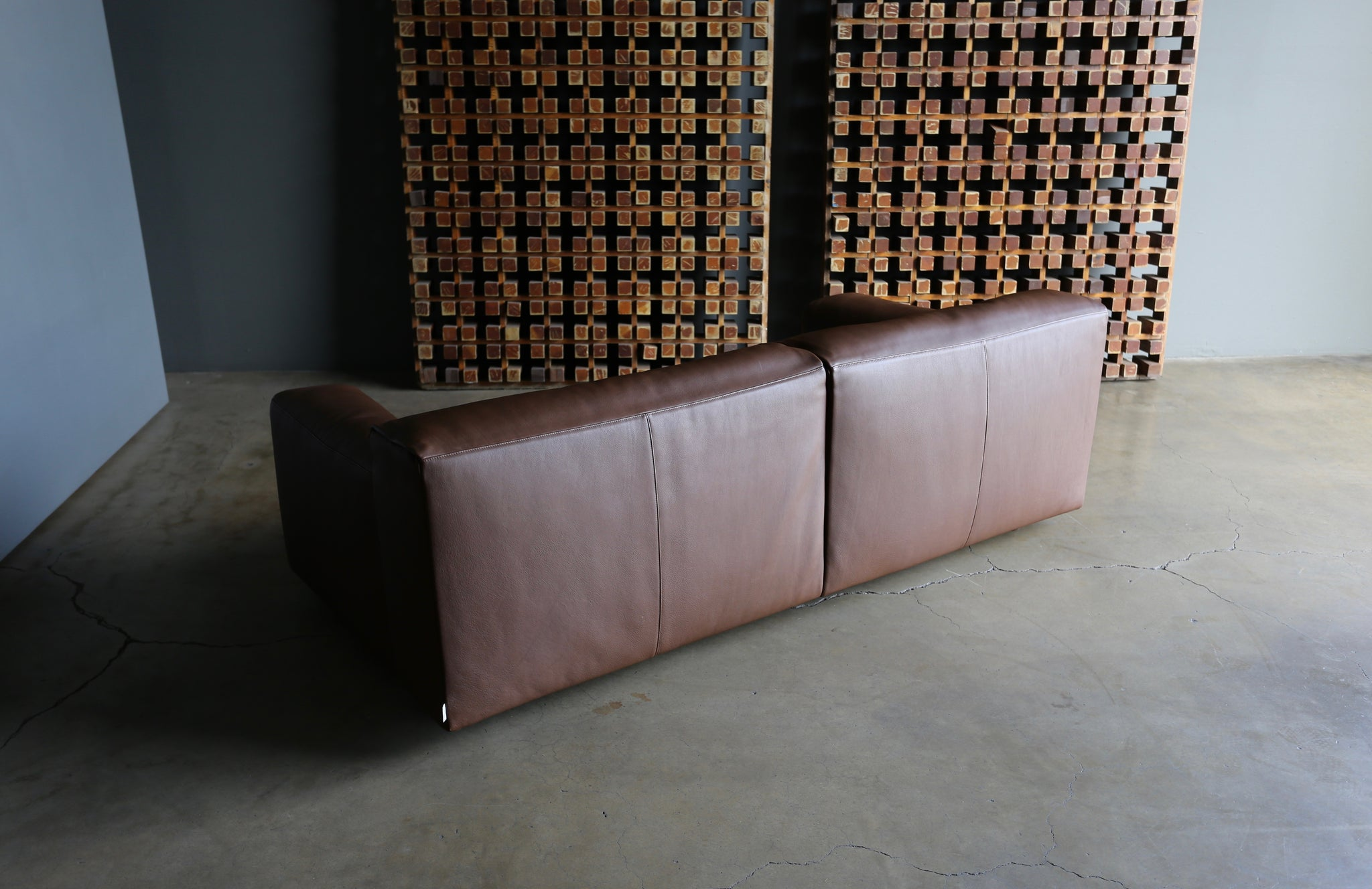 "= SOLD = Piero Lissoni Leather "" Softwall "" Sofa for Living Divani circa 2006"