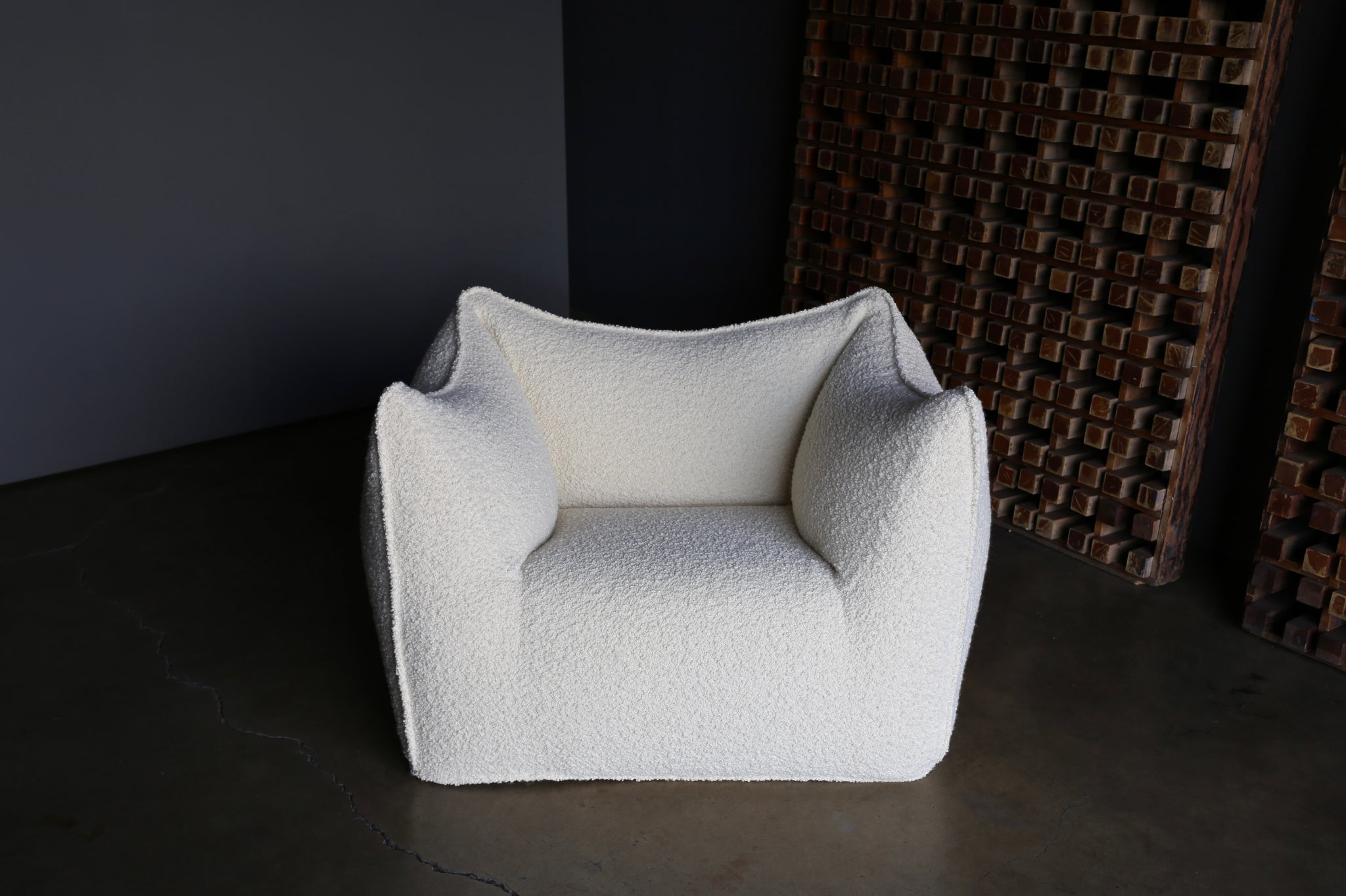 "= ON HOLD = Mario Bellini ""Le Bambole"" Lounge Chair & Ottoman for B&B Italia"