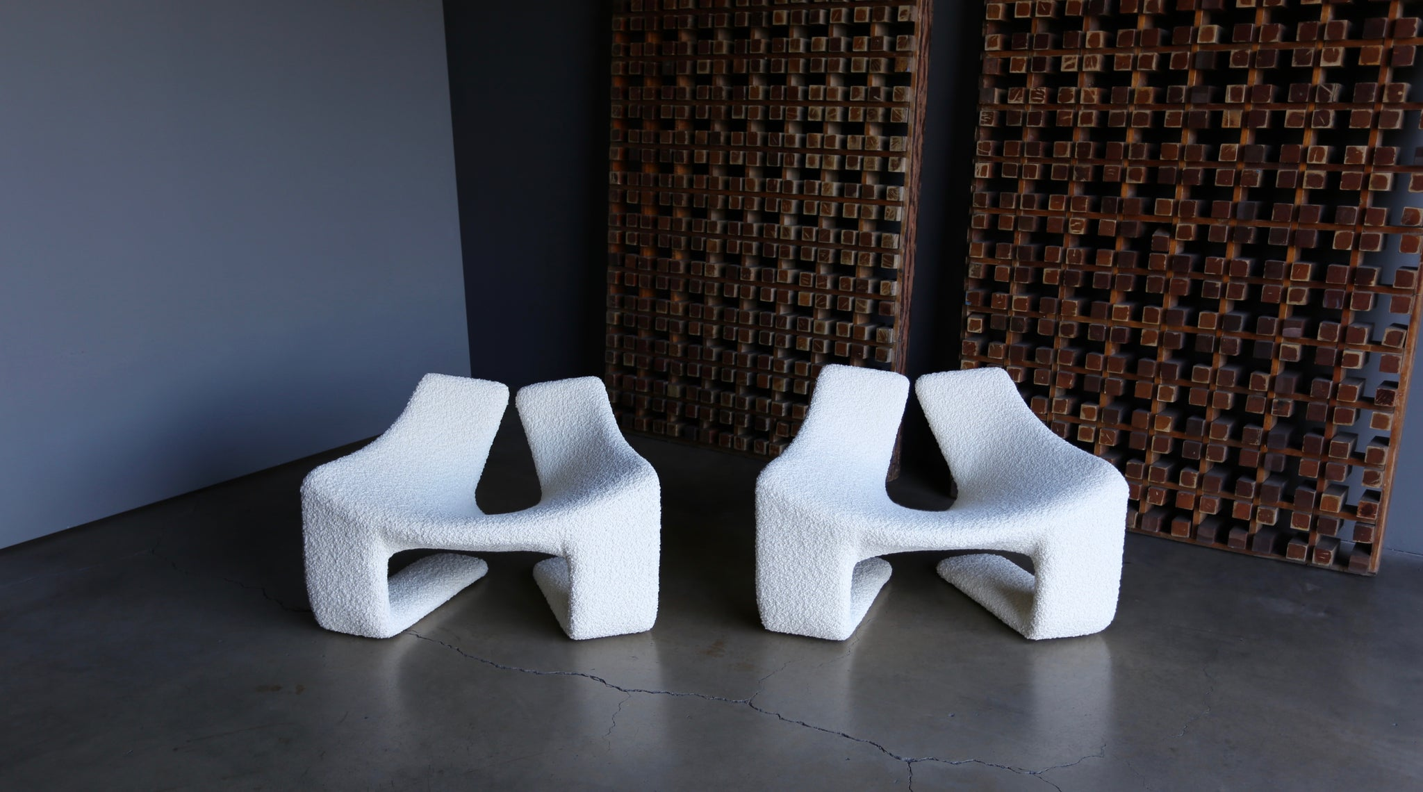 "= SOLD = Kwok Hoi Chan "" ZEN "" Chairs for Steiner Paris circa 1970"